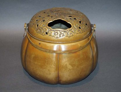 Japanese Antique Copper Hand Warmer / Incense Burner