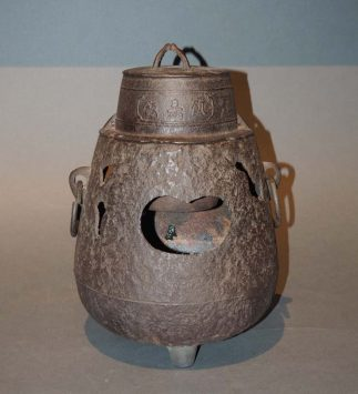 Rare Antique Japanese Iron Rice Cooker Furugama