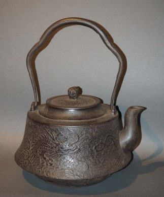 Large Japanese Tetsubin Iron Teapot
