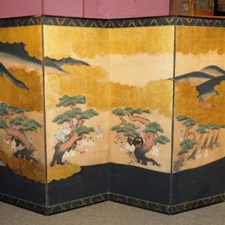 Japanese Six Panel (Byobu) Folding Screen