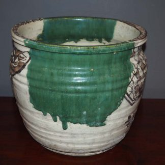Japanese Antique Oribe Ceramic Pot