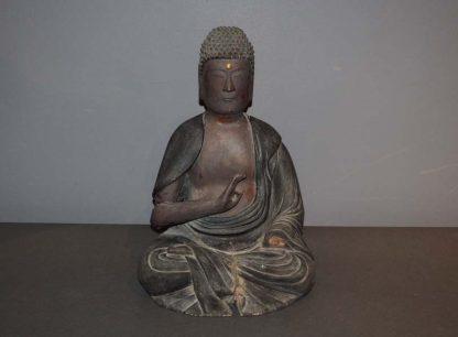 Japanese Antique Wood Amida Buddha