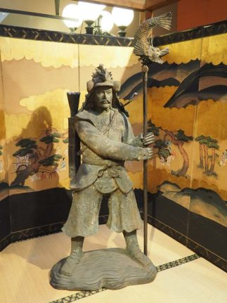 Extraordinary Large Japanese Antique Bronze Samurai Statue