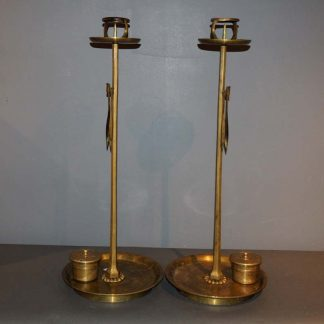 A Pair Japanese Antique Candle Stand Shokudai