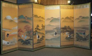 Japanese Six Panels Byobu Screen