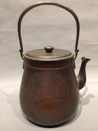 Japanese antique Copper Tetubin teapot