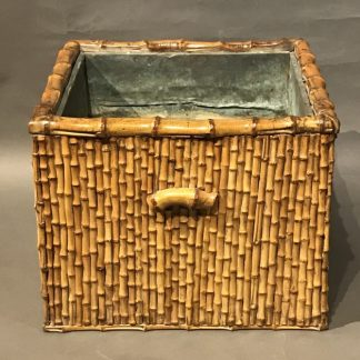 A Beautiful Japanese Antique Bamboo Hibachi