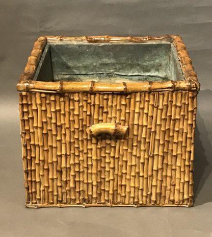 A Beautiful Japanese Antique Bamboo Hibachi