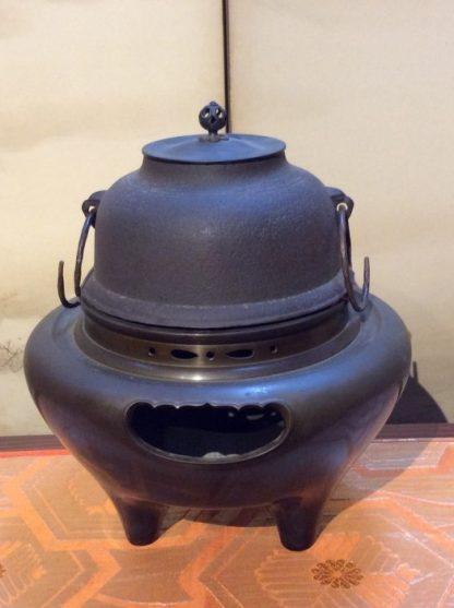 Japanese Antique Chagama Kettle Furogama Tetsubin Tea Ceremony Wind Furnace