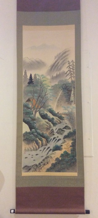 Japanese Painting Wall Hanging Kakejiku Scroll