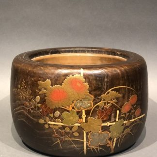 Japanese Antique makie Hibachi