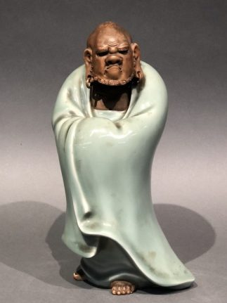 Japanese Antique Ceramic Dharuma Statue
