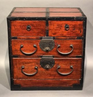 Japanese Antique Lacquer Ko Tansu Small Chest
