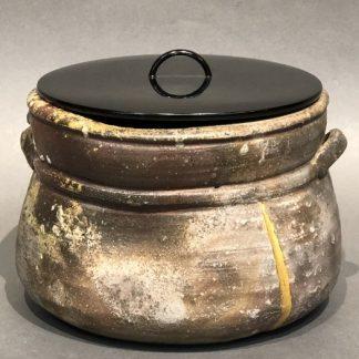 Japanese Antique Shigaraki-yaki Mizusashi Water Pot