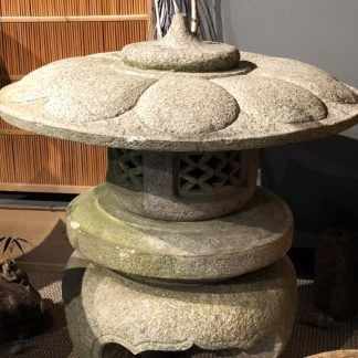 Japanese Antique Yukimi-toro Low Garden Stone Lantern