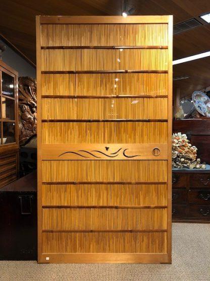 Japanese Reed Fusuma with Bamboo & Wood Framed (Sliding Door)