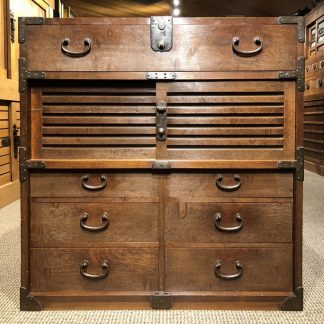 Wonderful Japanese Antique Choba Merchant Tansu Chest