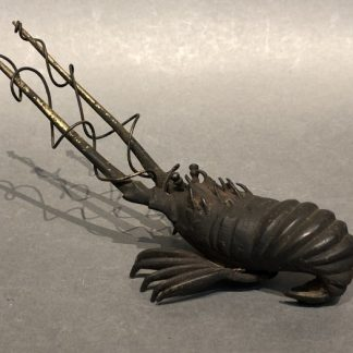 Japanese Antique Bronze Okimono lobster