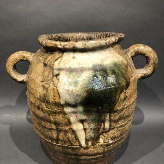 Japanese Antique Oribe-Yaki Pot