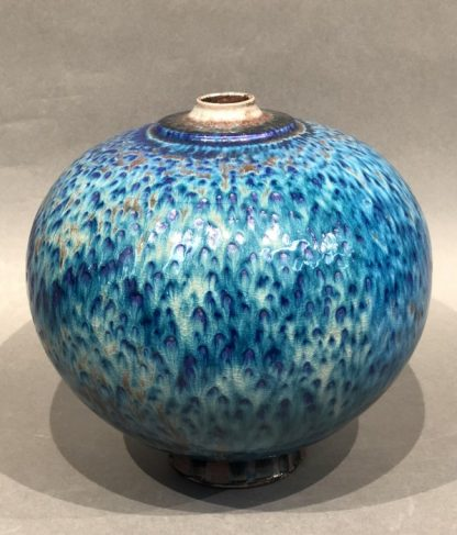Beautiful Japanese Blue Ceramic Vase