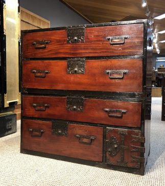 Japanese Antique Lacquer Kasane Tansu Clothing Chest