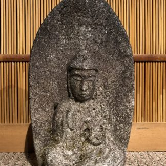 Japanese Antique Stone Jizo Guardian God