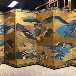 Japanese Antique Byobu Screen