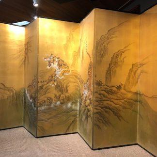 Japanese Antique 6 Panels Byobu Screen