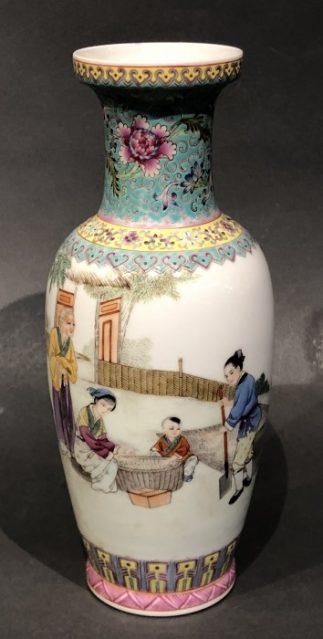 Chinese Famille Rose Ceramic Vase